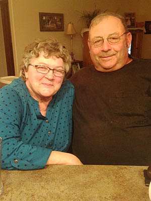 Sharon and Doug Brandt pose for a picture during Thanksgiving, 2015.
